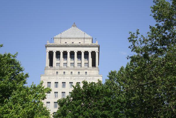 st louis civil courts building against a blue sky